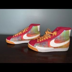 Multi color Nike Blazers
